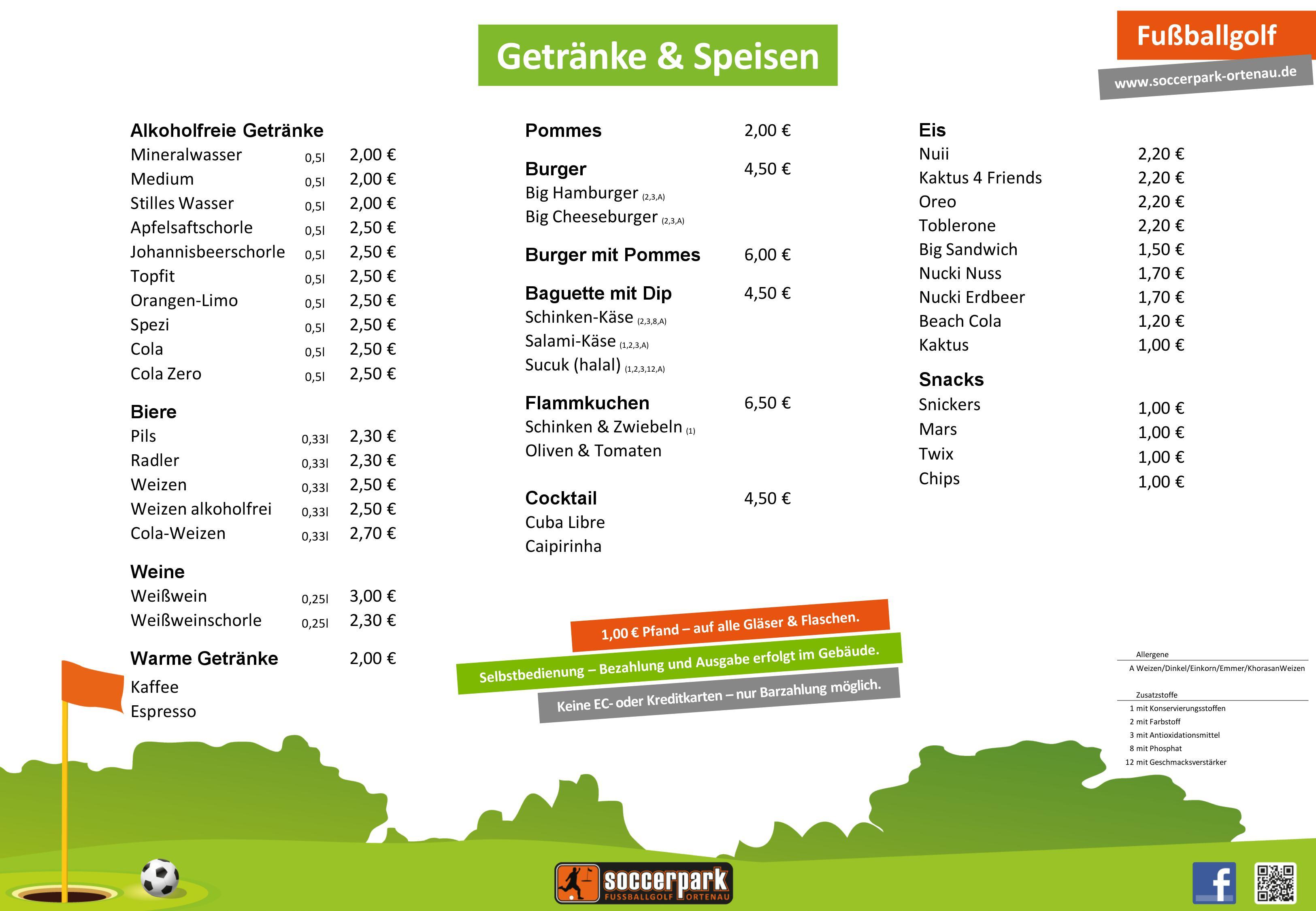 Soccerpark Ortenau Essen Und Trinken